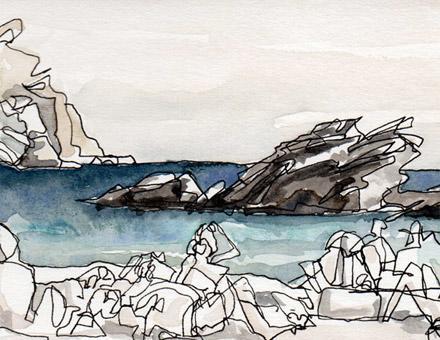 Folegandros St Nickolas beach