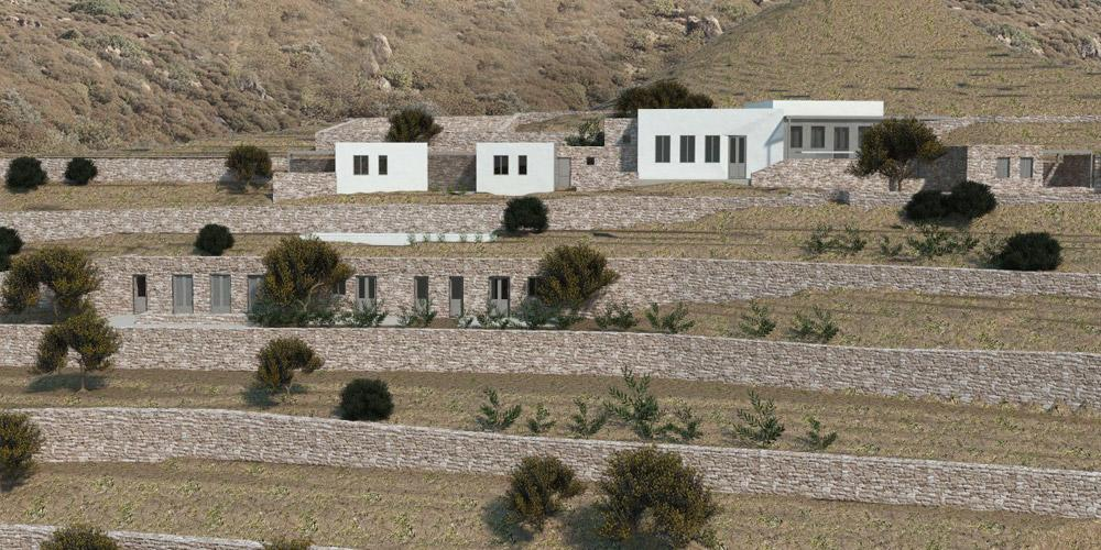 Holliday Residence on a terraced plot